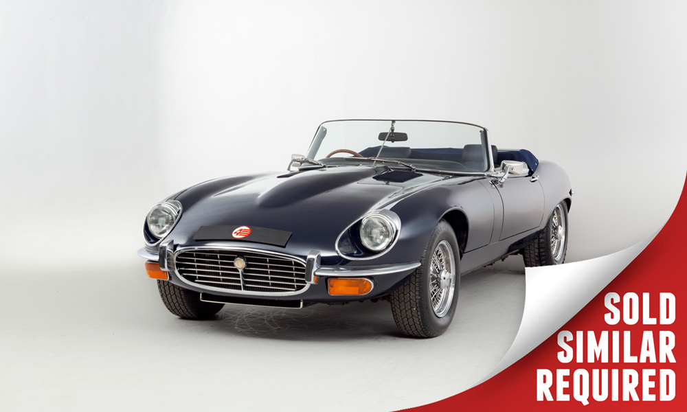Jaguar E Type Series III Convertible blue SOLD