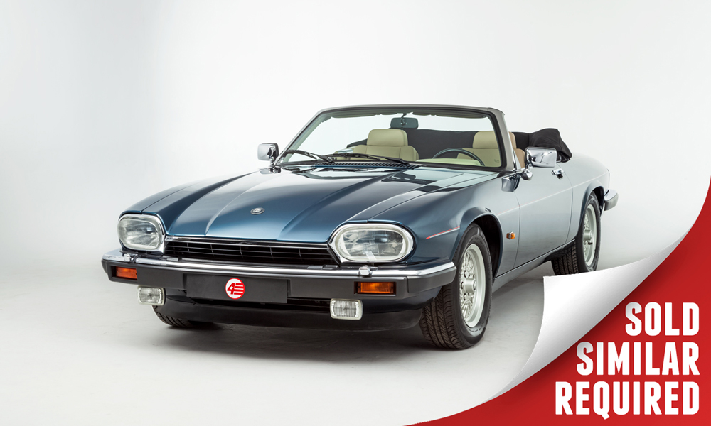 Jaguar XJS V12 Convertible LHD blue SOLD