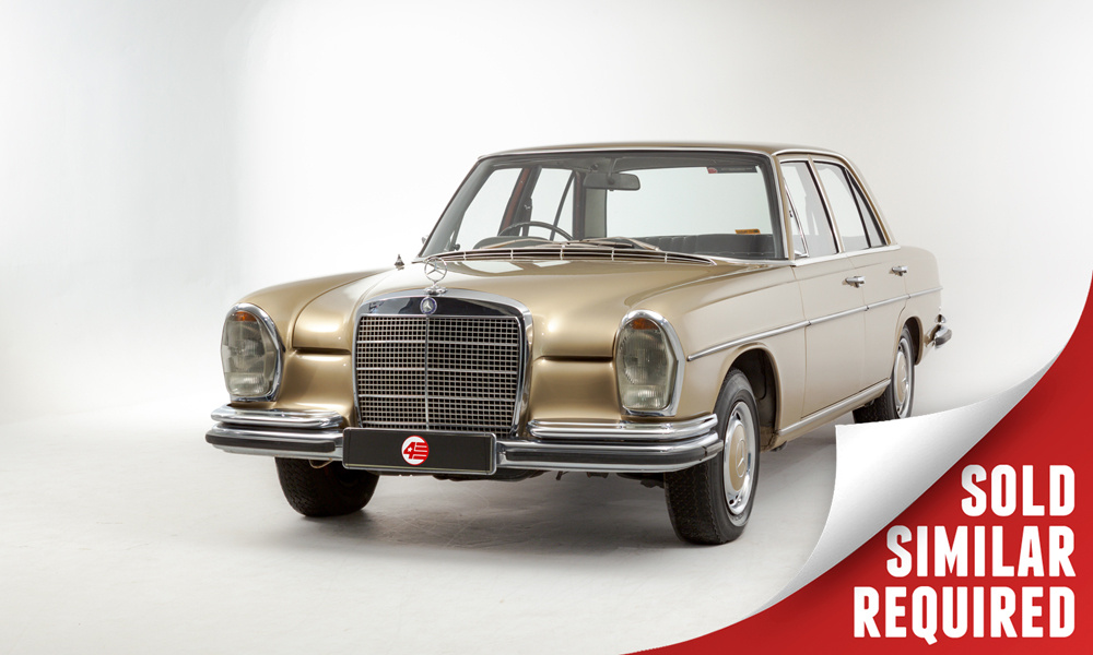 Mercedes W108 280 SE gold SOLD
