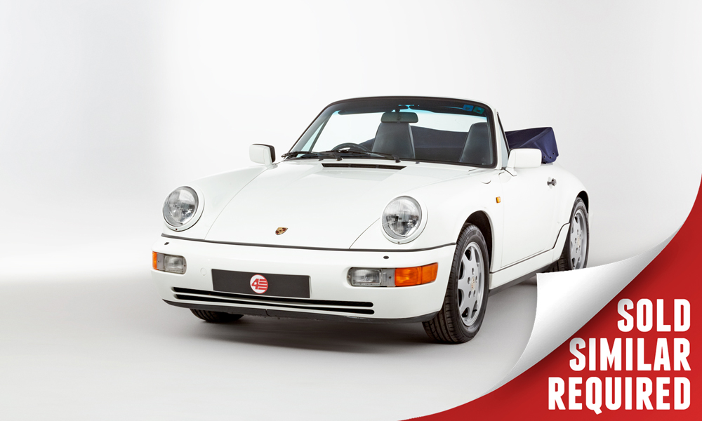 Porsche 964 Carrera 4 Cabriolet white SOLD