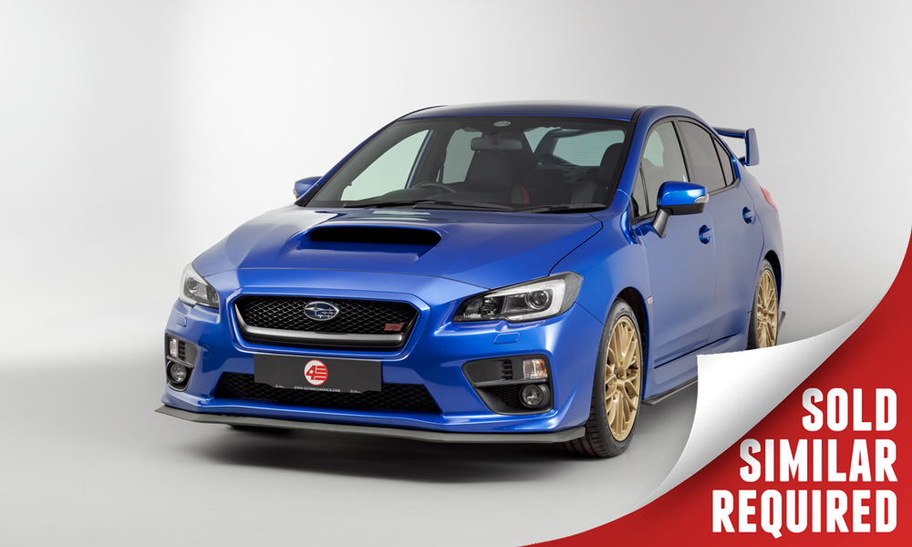 Subaru WRX STI blue SOLD
