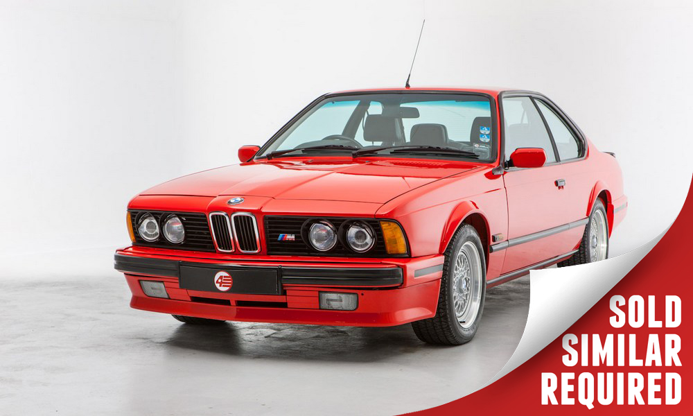 BMW 635 CSI Motorsport Edition red SOLD