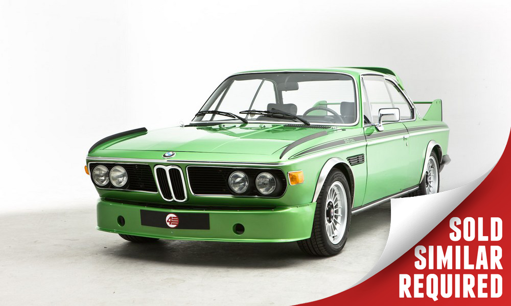 BMW CSL Batmobile green SOLD