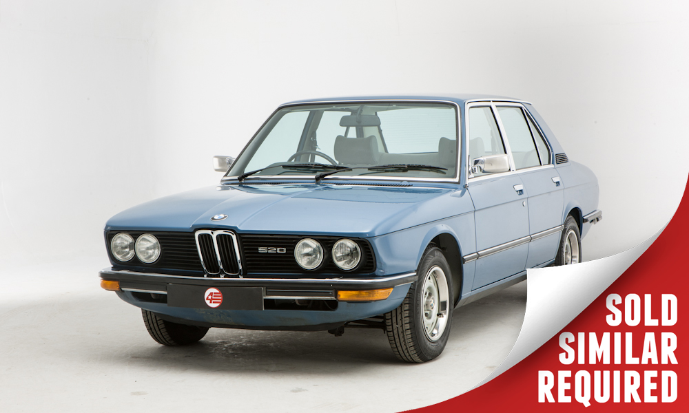 BMW E12 520 blue SOLD