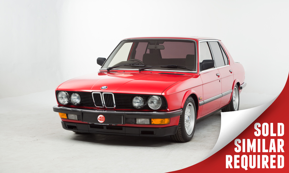 BMW E28 535i red SOLD