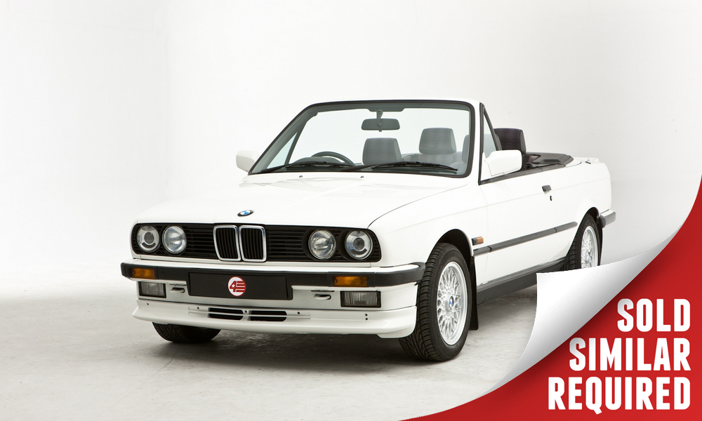 BMW E30 325i Cabriolet white SOLD2