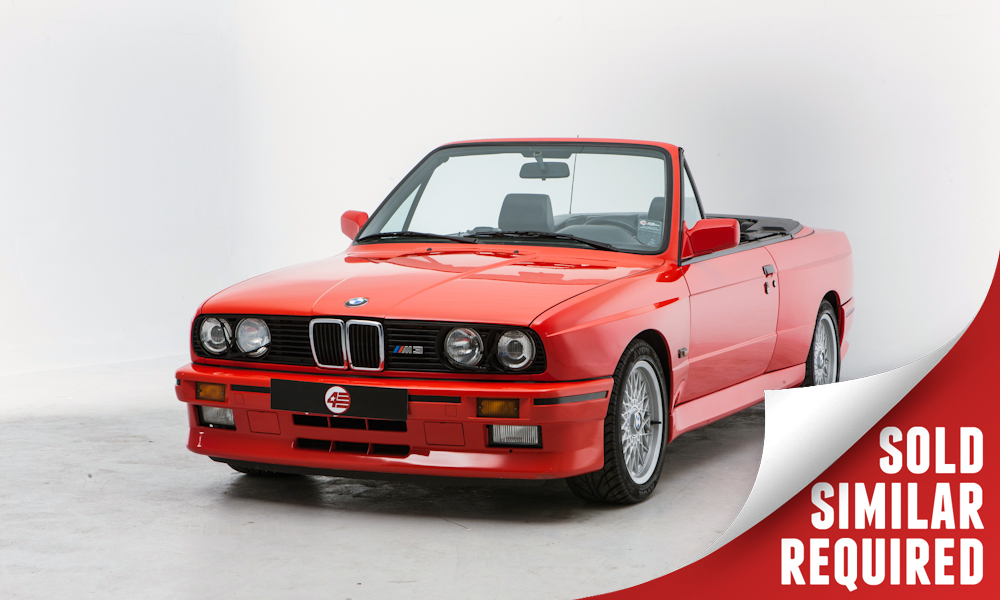 BMW E30 M3 Cabriolet red SOLD2