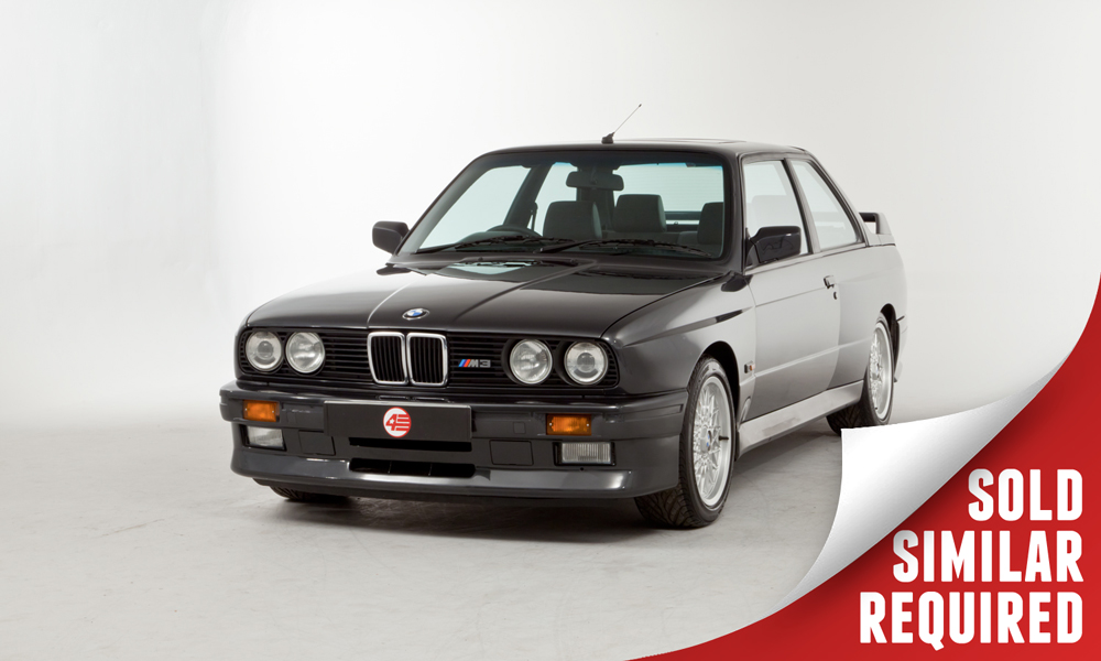 BMW E30 M3 RHD black SOLD