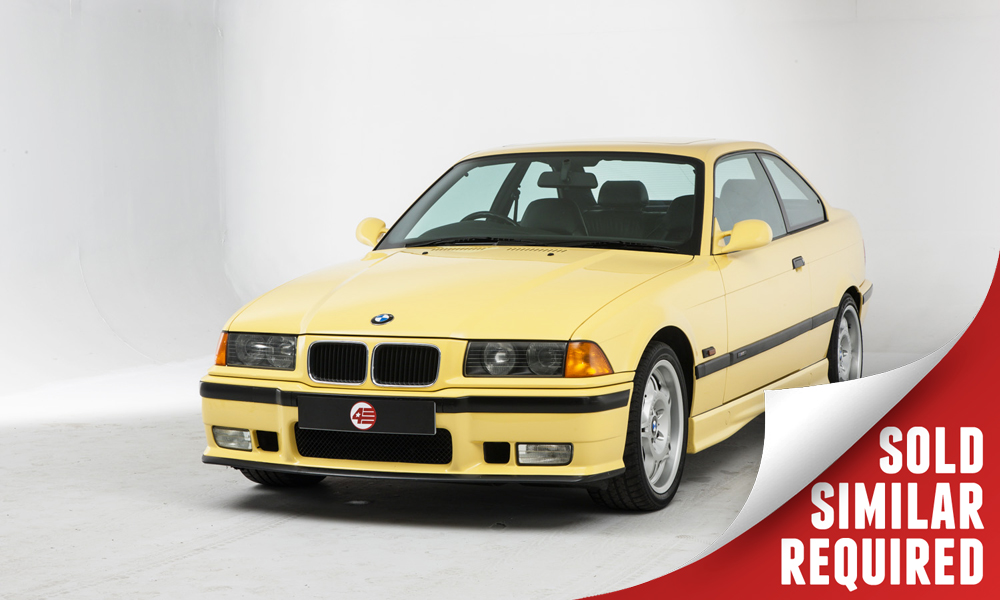 BMW E36 M3 yellow SOLD2
