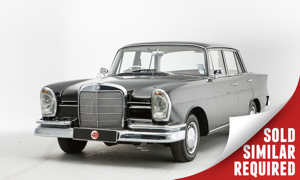 Mercedes 220 Fintail black SOLD