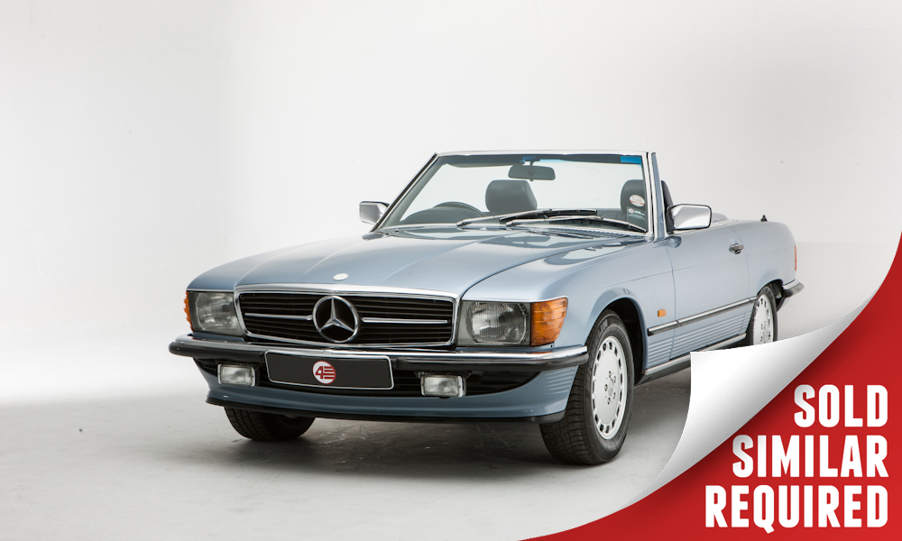 Mercedes R107 300SL blue SOLD