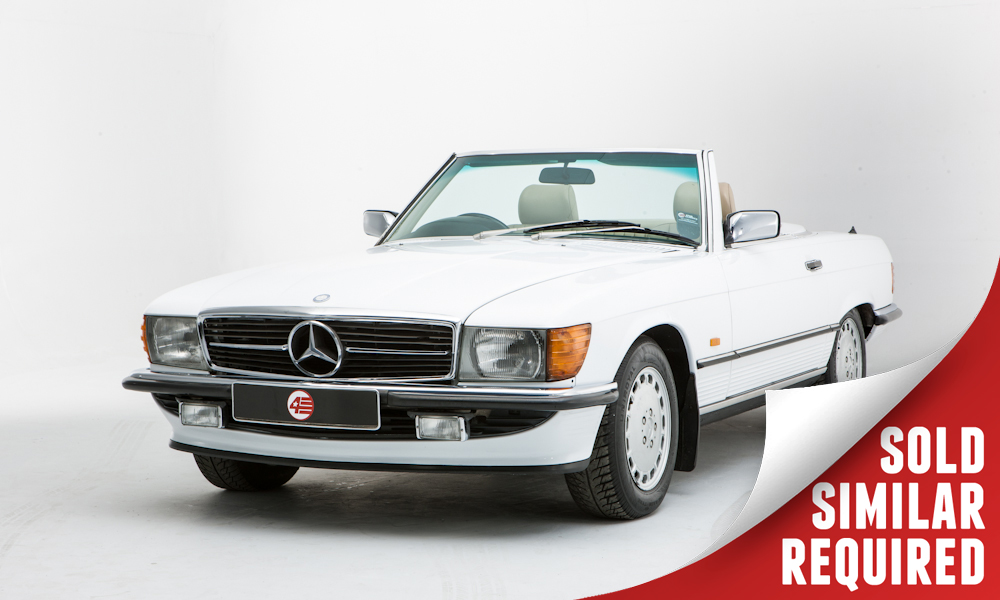 Mercedes R107 300SL white SOLD