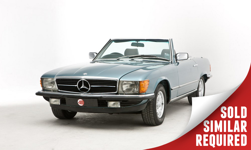 Mercedes R107 380SL blue SOLD