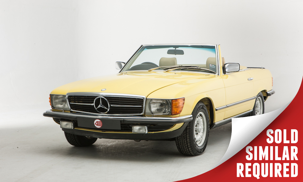 Mercedes R107 500SL yellow SOLD