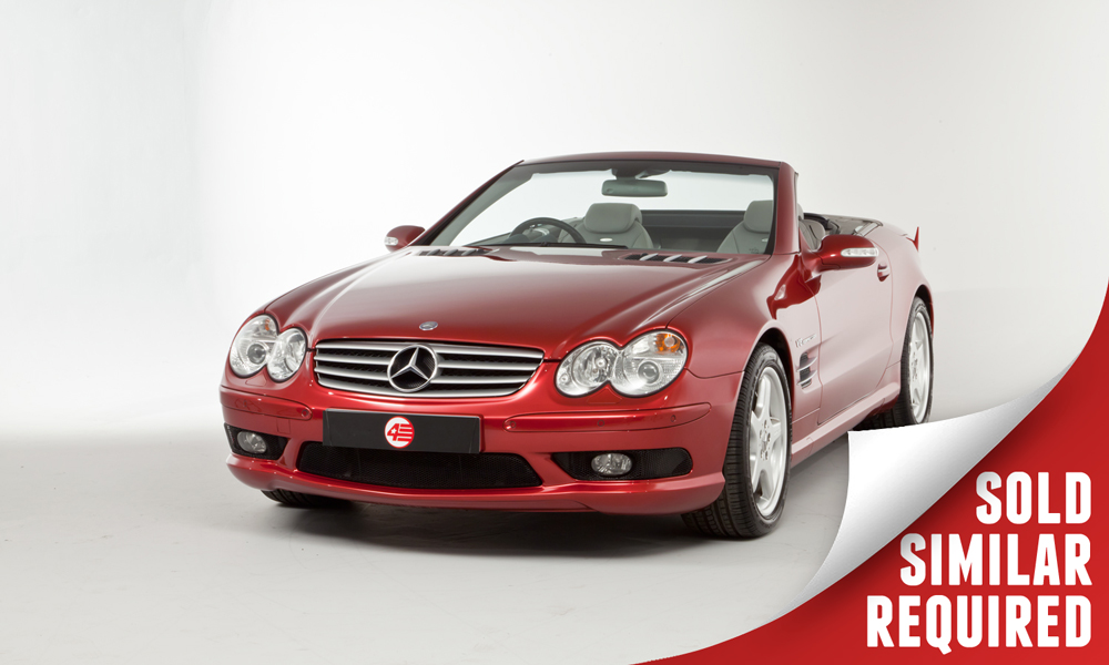 Mercedes SL55 AMG red SOLD