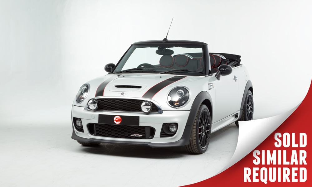 Mini JCW Convertible silver SOLD