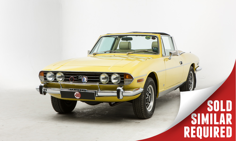 Triumph Stag yellow SOLD