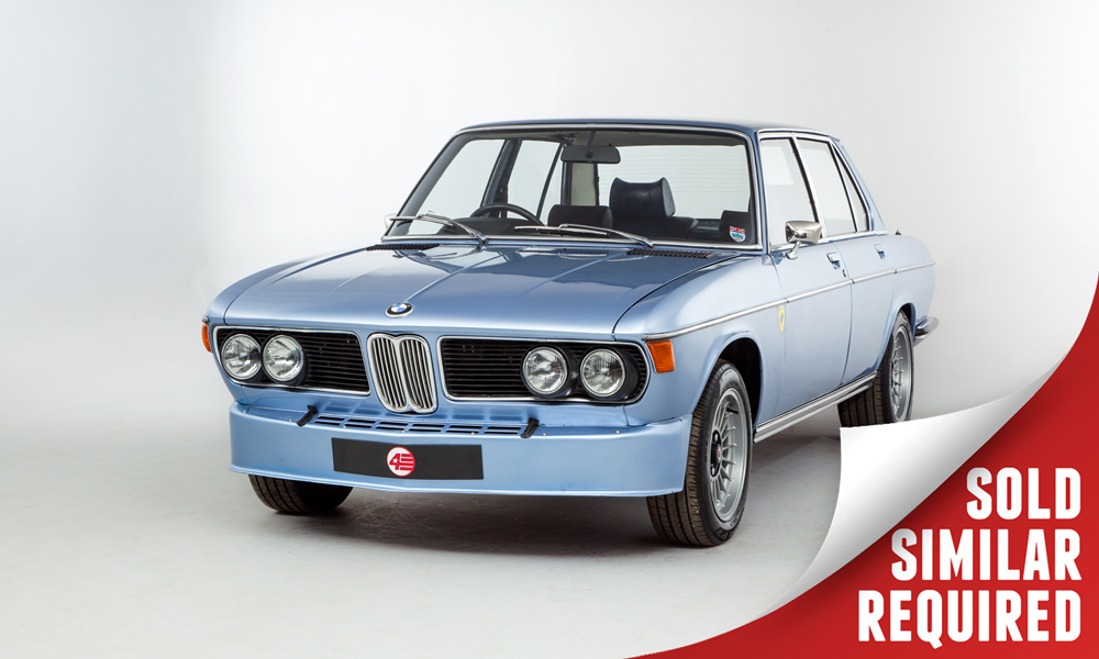 BMW E3 3.0S blue SOLD