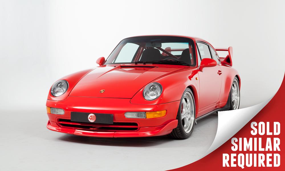 red Porsche 993 RS Clubsport
